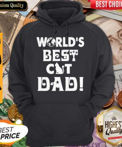 Nice Worlds Best Cat Dad Fathers Day Hoodie