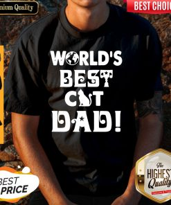 Nice Worlds Best Cat Dad Fathers Day Shirt