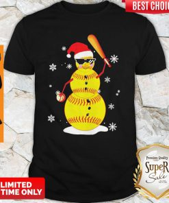 Top Christmas Baseball Player Santa Softball Lover Shirt