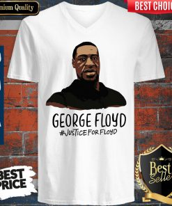 Beautiful Rip George Floyd Justice For Floyd V-neck
