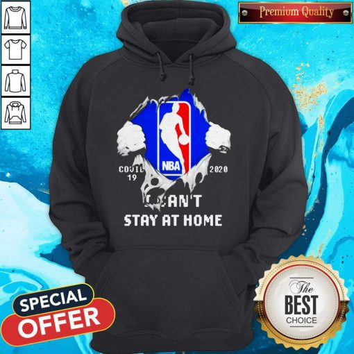 Blood Inside Me NBA Covid 19 2020 I Can't Stay At Home Hoodie