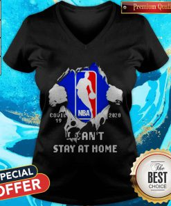 Blood Inside Me NBA Covid 19 2020 I Can't Stay At Home V-neck