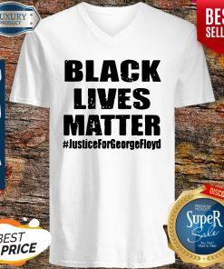 Hot Black Lives Matter JusticeForGeorgefloyd V-neck