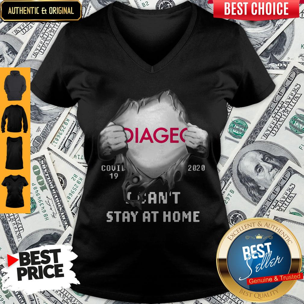 Hot Blood Inside Me Diageo Covid 19 2020 I Cant Stay At Home V-neck