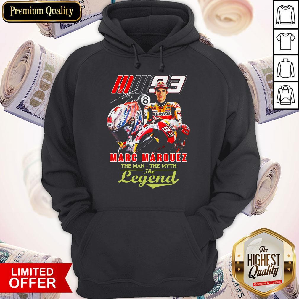 Marc Marquez The Man The Myth The Legend Signature Hoodie