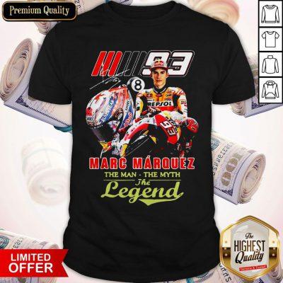 Marc Marquez The Man The Myth The Legend Signature Shirt