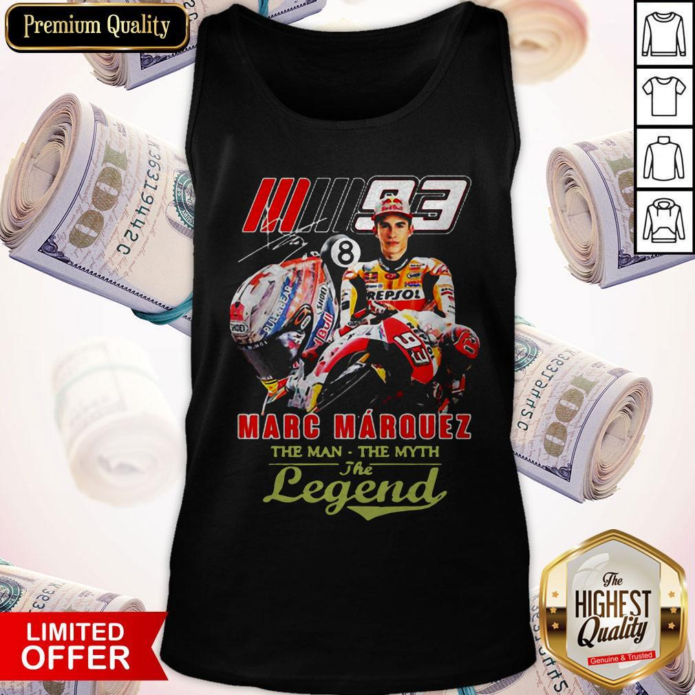 Marc Marquez The Man The Myth The Legend Signature Tank TopMarc Marquez The Man The Myth The Legend Signature Tank Top