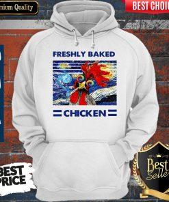Nice Freshly Baked Chicken Oil Painting Vintage Hoodie