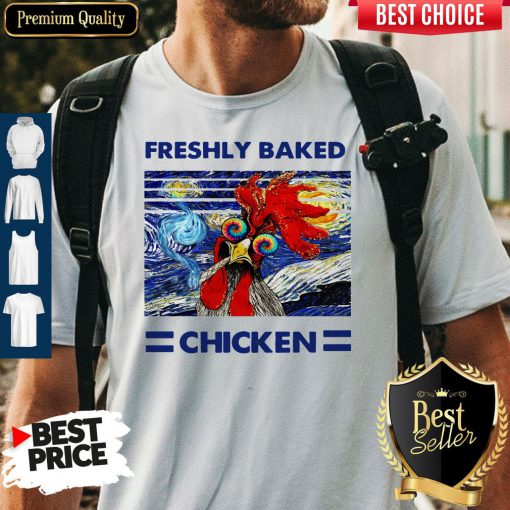 Nice Freshly Baked Chicken Oil Painting Vintage Shirt