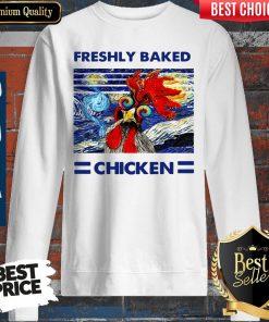 Nice Freshly Baked Chicken Oil Painting Vintage Sweatshirt