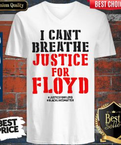 Nice T Cant Breathe Justice For Floyd V-neck