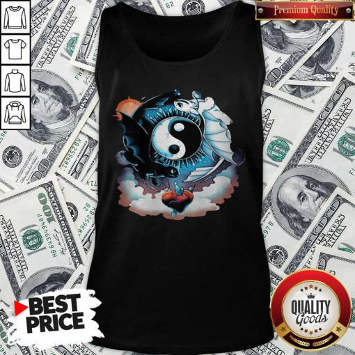 Awesome Toothless Dragon And His Girlfriend Heart Moon Tank Top