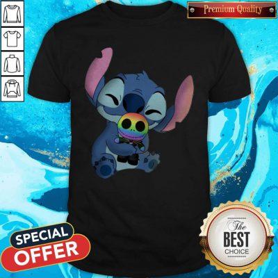 Baby Stitch Hug Baby Jack Skellington LGBT Shirt
