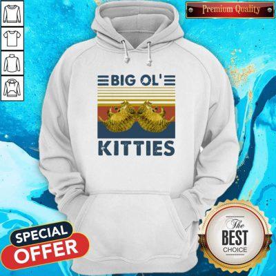 Cat Big ol Kitties Vintage Retro Hoodie
