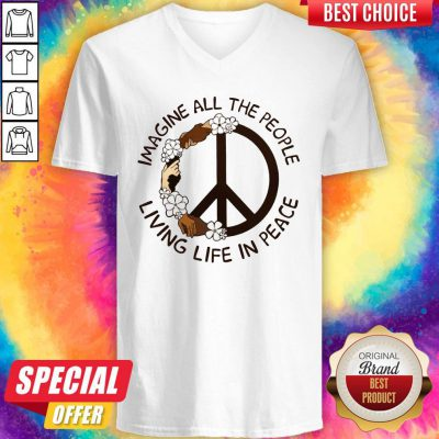 Funny Imagine People Living In Peace V-neck