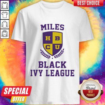 Funny Miles HBCU Black Ivy League Halloween Shirt