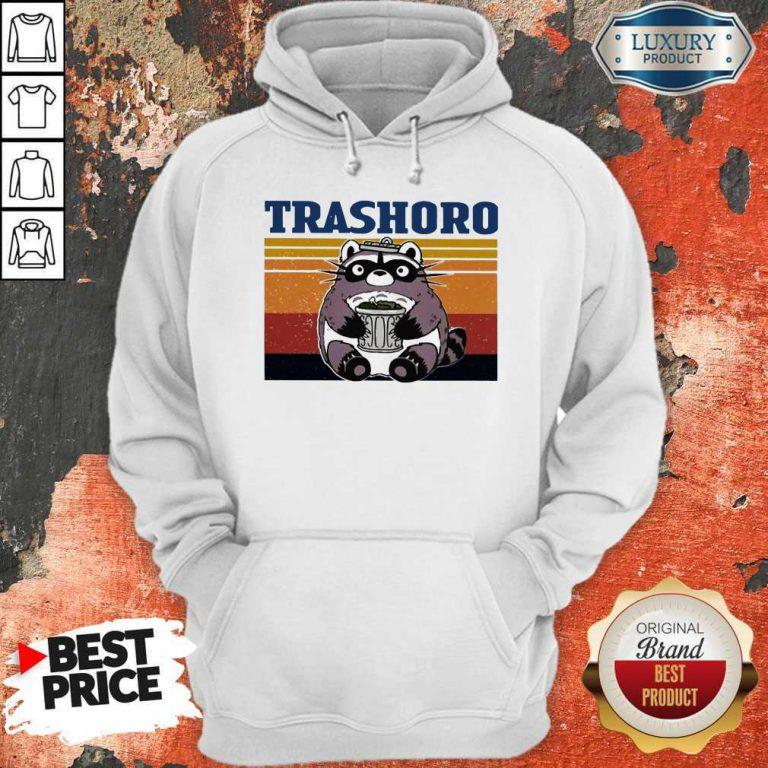Funny Racoon Trashoro Vintage Hoodie