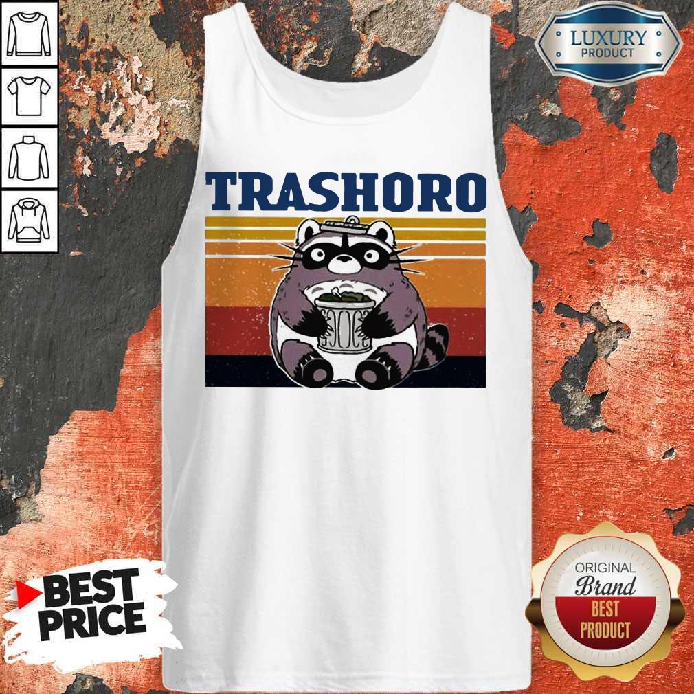 Funny Racoon Trashoro Vintage Tank Top