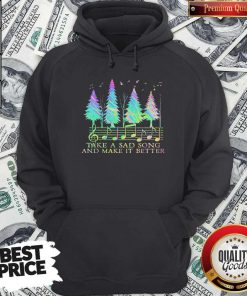 Funny Staves Take A Sad Song And Make It Better Hoodie