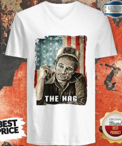 Hot The Hag Smoking American Flag Independence Day V-neck