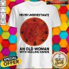 Never Underestimate An Old Woman With Healing Hands Massage Therapist Moon Halloween Shirt