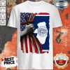 Nice Wyoming American Flag Cross Happy Independence Day Shirt