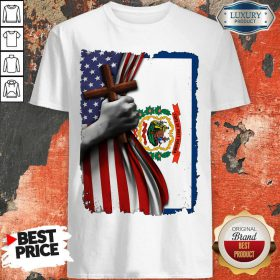 Official West Virginia American Flag Cross Happy Independence Day Shirt