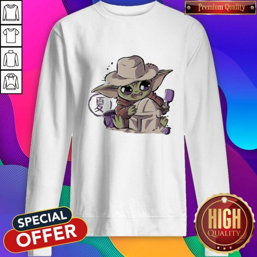 Premium Baby Yoda Hug Boba Fett Sweatshirt