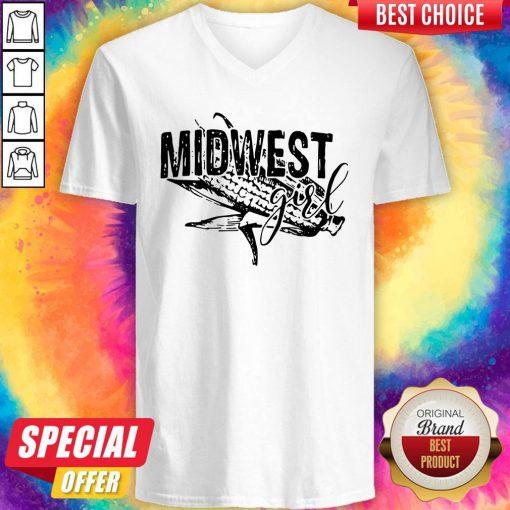 Premium Midwest Girl V-neck