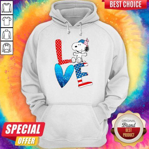 Snoopy Love American 4th Of July Hoodie