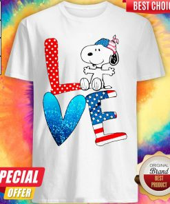 Snoopy Love American 4th Of July Shirt