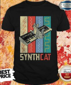 Synthesizer Synth Cat Vintage Retro Premium Perfect Shirt