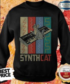 Synthesizer Synth Cat Vintage Retro Premium Perfect SweatShirt