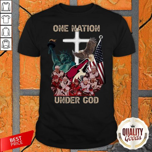 Arizona Coyote One Nation Under God Shirt
