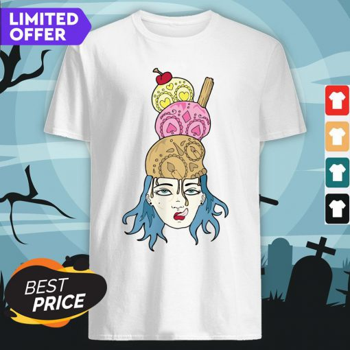 Brain Freeze Ice Cream Day Of The Dead Dia De Los Muertos Shirt
