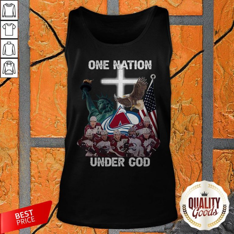 Colorado Avalanche One Nation Under God Tank Top