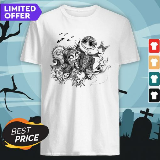 Dia De Muertos Day Of The Dead Jack And Sally Skeleton Shirt