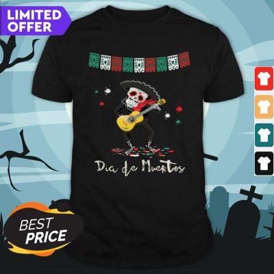 Dia De Muertos Day Of The Dead Mariachi Guitar Player Skeleton Shirt
