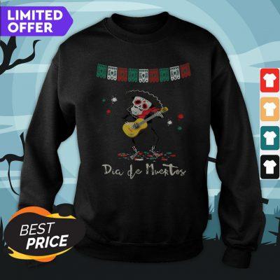 Dia De Muertos Day Of The Dead Mariachi Guitar Player Skeleton Sweatshirt
