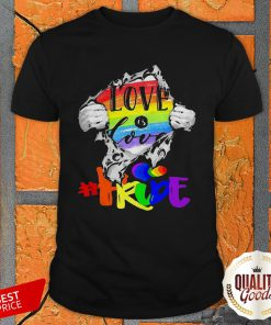 Love Is Love Pride LGBT Inside The Heart Perfect Official Premium Top Shirt