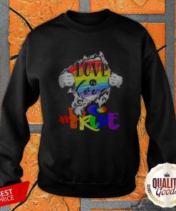 Love Is Love Pride LGBT Inside The Heart Perfect Official Premium Top SweatShirt