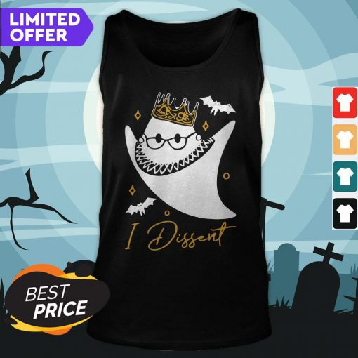 Official RBG In Dissent Halloween Tank Top