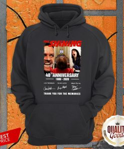 Official The Shining 40th Anniversary 1980 2020 Thank You For The Memories Signatures Hoodie