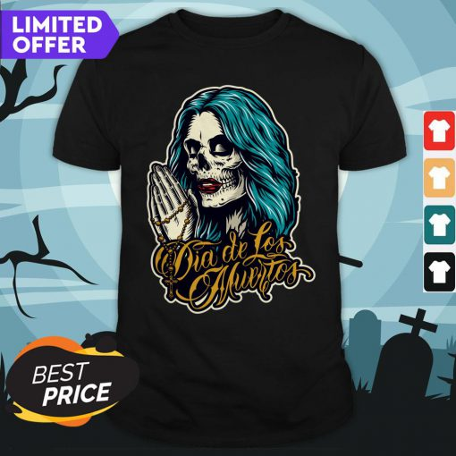 Sugar Skull Woman Day Of The Dead Outlaw Dia De Los Muertos Shirt