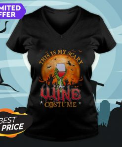 This Is My Scary Wine Costume Halloween V-neck