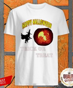 Witch And Giraffe Happy Halloween Trick Or Treat Shirt