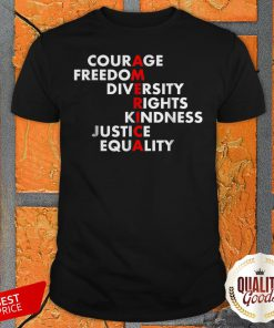 Courage Freedom Diversity Rights Kindness Justice Equality Shirt