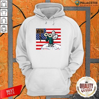 Mike Pence's Fly I Smell BS American Flag T-Hoodie