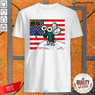 Mike Pence's Fly I Smell BS American Flag T-Shirt