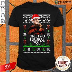 Official Freddy Krueger One Two Freddy's Coming For You Ugly Christmas Shirt